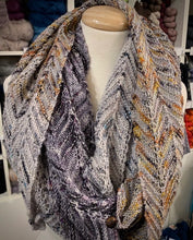 Load image into Gallery viewer, Speckled Chevron Wrap Knitting Kit | Boon MCN & Knitting Pattern (#348)