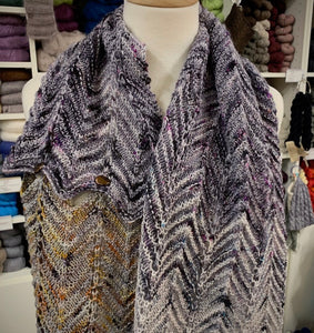 Speckled Chevron Wrap Knitting Kit | Boon MCN & Knitting Pattern (#348)