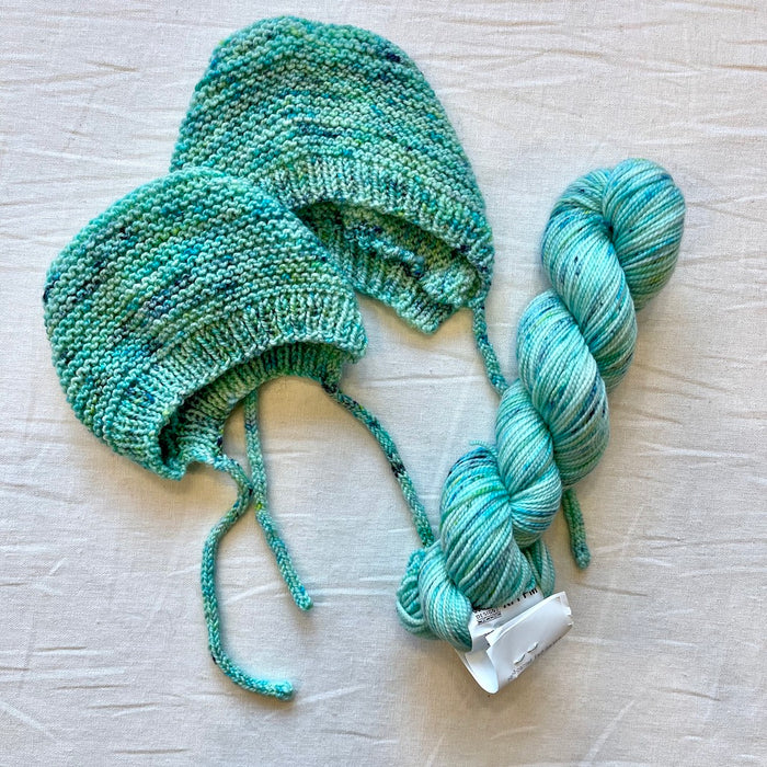 Baby and Preemie Bonnet Knitting Kit | Koigu Premium Merino & Knitting Pattern (#315)