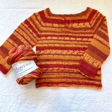 Load image into Gallery viewer, Easiest Baby Sweater Ever (Cascade Heritage version) Knitting Kit | Cascade Heritage Prints & Knitting Pattern (#320D)