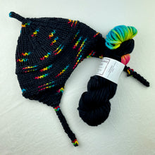 Load image into Gallery viewer, Iris Hat (Wonderland Version) Knitting Kit | Wonderland TweedleDeeDum & Knitting Pattern (#149)