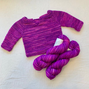 Easiest Baby Sweater Ever (Anzula version) Knitting Kit | Anzula For Better or Worsted & Knitting Pattern (#320A)
