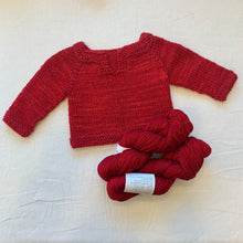 Load image into Gallery viewer, Easiest Baby Sweater Ever (Anzula version) Knitting Kit | Anzula For Better or Worsted & Knitting Pattern (#320A)