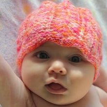 Load image into Gallery viewer, Chevron Baby Hat Knitting Kit | Mrs. Crosby Satchel & Knitting Pattern (#290)