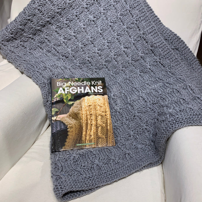 Celtic Tradition Afghan Knitting Kit | Ella Rae Superwash Classic & Knit Afghans Book