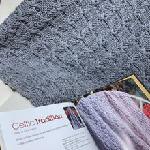 Load image into Gallery viewer, Celtic Tradition Afghan Knitting Kit | Ella Rae Superwash Classic & Knit Afghans Book