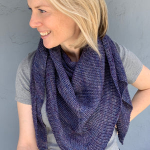Siki Shawl Knitting Kit | Earl Grey Gunpowder Sock