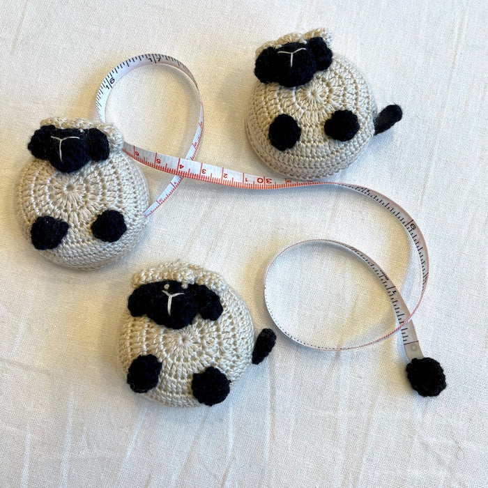 Crocheted Sheep Measuring Tape