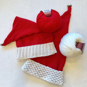 Atelier Santa Hat Knitting Kit | Ella Rae Superwash Classic & Knitting Pattern (#335)