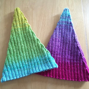 Ombré Elf Hat Knitting Kit | Freia Handpaints Superwash Merino Silk Sport & Knitting Pattern (#301)