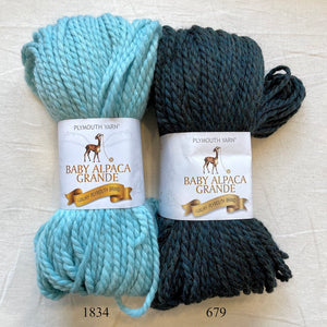 Bulky Ribbed Cowl Knitting Kit | Bulky Alpaca & Knitting Pattern (#167A)