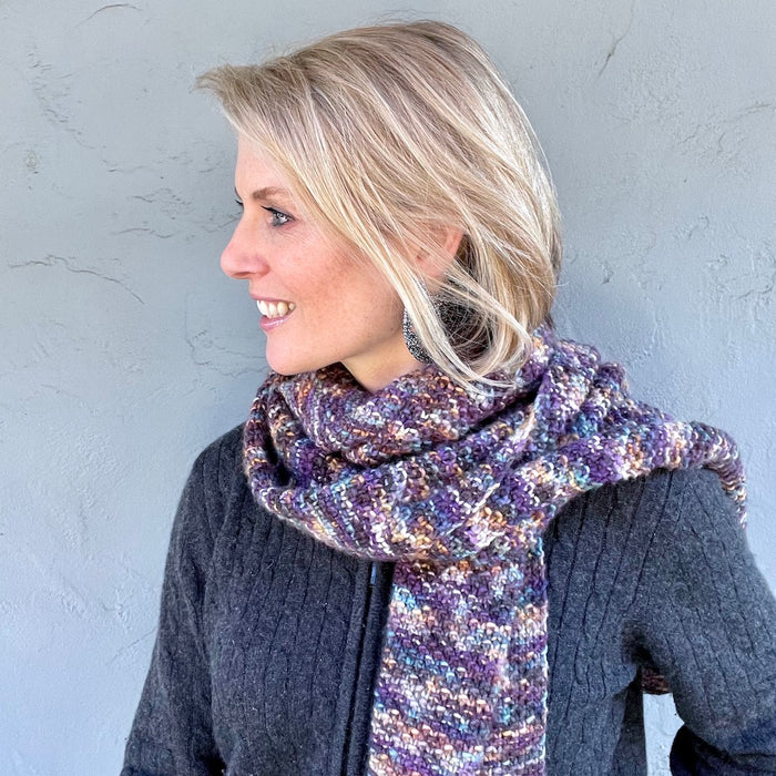 Malabrigo Seed Stitch Scarf Knitting Kit | Malabrigo & Knitting Pattern (#211)