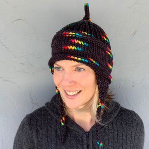 Iris Hat (Wonderland Version) Knitting Kit | Wonderland TweedleDeeDum & Knitting Pattern (#149)