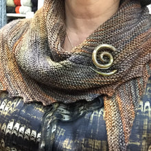 Load image into Gallery viewer, Spiral Glass Shawl Pins from Moving Mud