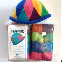Load image into Gallery viewer, Knitwhits Jester Hat Knitting Kit | Knitwhits Wool & Knitting Pattern