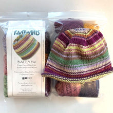 Load image into Gallery viewer, Knitwhits Bailey Striped Hat Knitting Kit | Knitwhits Cotton & Knitting Pattern