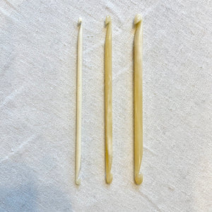 Ebony or Bone Double Ended Crochet Hooks