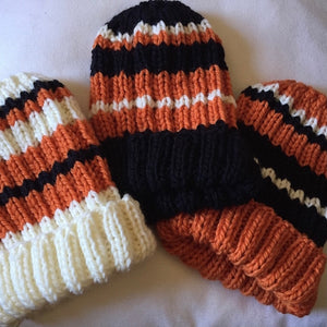 Game Day Striped Hat Knitting Kit | Cascade 128 & Knitting Pattern (#281)