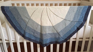 Spiral Knit Baby Blanket Knitting Kit | Cotton Denim DK & Knitting Pattern (#302)