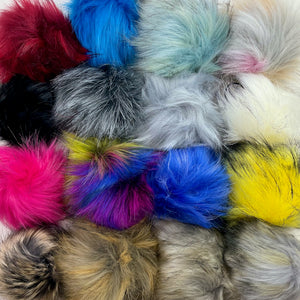 Faux Fur Vegan Pompoms