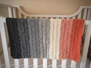 Gradient Baby Blanket Knitting Kit | Berroco Ultra Alpaca Fine & Knitting Pattern (#292)