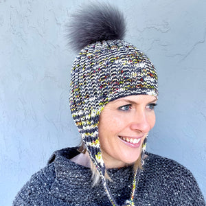 Easy Rib Earflap Hat Knitting Kit | Baah Sonoma & Knitting Pattern (#329)