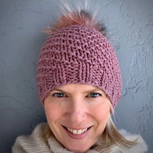 Load image into Gallery viewer, Bulky Cashmere Hat Knitting Kit | Lux Adorna Bulky Cashmere & Knitting Pattern (#343)