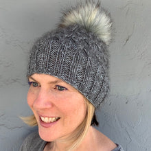 Load image into Gallery viewer, Allover Cabled Hat (Peeeps Version) Knitting Kit | Jade Sapphire Peeeps & Knitting Pattern (#299)