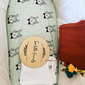 Green Bunny Fitted Moses Basket Bassinet Sheet
