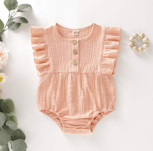 Ainsley Romper Pink