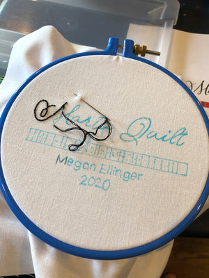 Embroidered Label Template