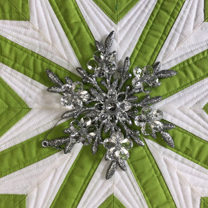 Modern Snowflake Table Runner PDF Pattern