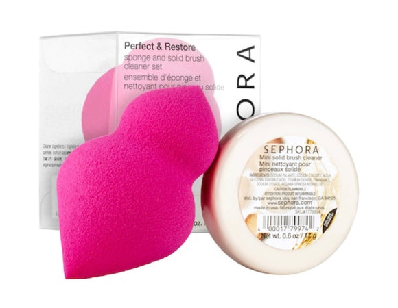 Sephora collection-Perfect & Restore Sponge and Solid Brush Cleaner Set