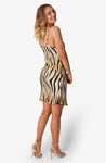 Silk Short Slip Dress Tiger