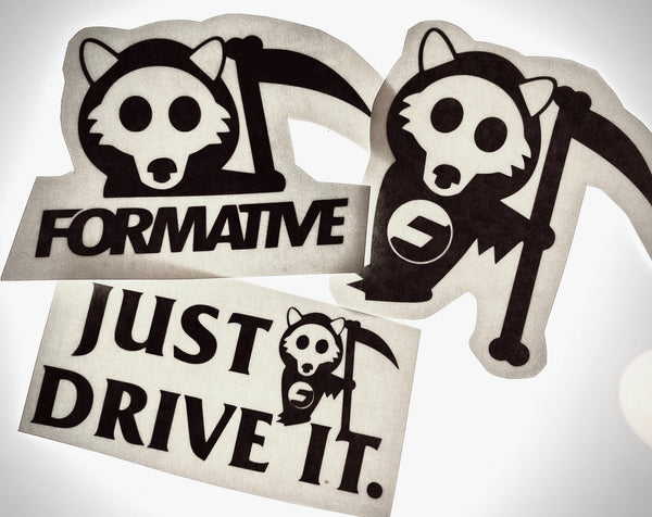 Grim Pupper 3pc Vinyl Decal Pack