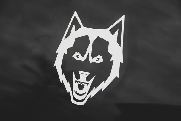 Husky Mascot Vinyl Decal