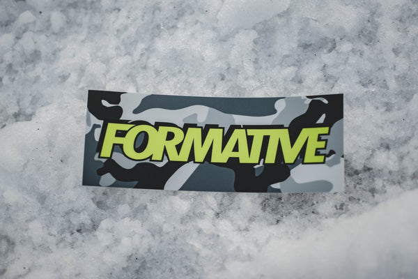 Snow Camo Slap Sticker
