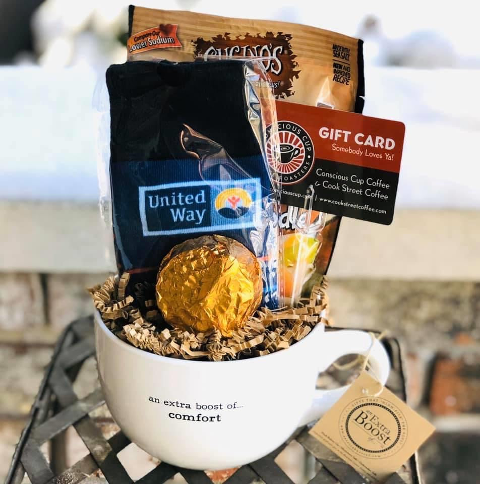 Employee Appreciation Gift Basket Mugs
