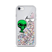 Earth Is So Ghetto Liquid Glitter Phone Case