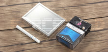 Load image into Gallery viewer, Silver Square Stainless Steel Press Design Cigarette Case For Men
