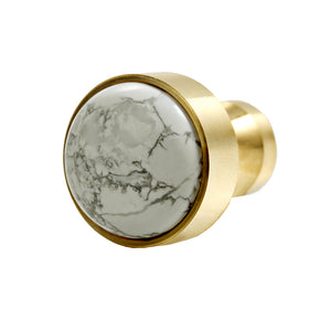 White Marble Natural Gem Stone Nordic Simplicity Decorative Coat Hook Wall Hanging Stainless Steel 316L 18K Gold Plating Door Drawer Handle Wall Hook
