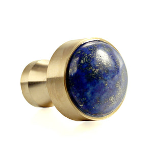 Lapis Lazuli Natural Gem Stone Nordic Simplicity Decorative Coat Hook Wall Hanging Stainless Steel 316L 18K Gold Plating Door Drawer Handle Wall Hook