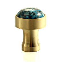 Laden Sie das Bild in den Galerie-Viewer, Crazy Blue Natural Gem Stone Nordic Simplicity Decorative Coat Hook Wall Hanging Stainless Steel 18K Gold Plating Door Drawer Handle Wall Hook