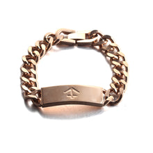 Load image into Gallery viewer, nautical anchor rose gold stainless steel fashion chain bracelet