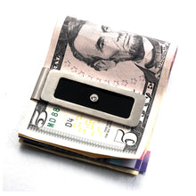 Load image into Gallery viewer, FORCEHOLD Stainless Steel Money cash Clip Slim Wallet Credit Card Holder Minimalist Wallet - Silver