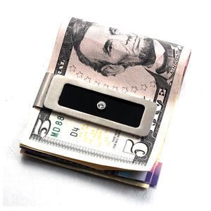 FORCEHOLD Stainless Steel Money cash Clip Slim Wallet Credit Card Holder Minimalist Wallet - Silver