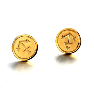 nautical anchor gold stainless steel fashion Stud earring