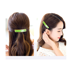 Green carbon fiber Spring clip stainless steel women hairpin headwear