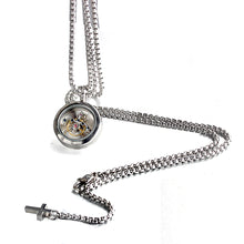 Charger l'image dans la galerie, Forcehold Rotating movement glass cover screw opened with cross pendant stainless steel man necklace