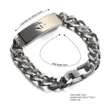 Load image into Gallery viewer, nautical anchor  stainless steel fashion chain bracelet